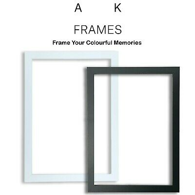 £3.30 • Buy BLACK Picture Frames Square Matt Style WHITE Photo Poster Frame A1 A2 A3 A4 A5