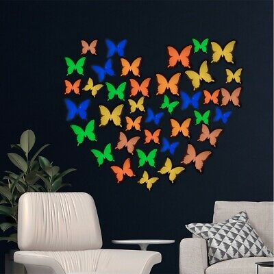 AU5.99 • Buy Glow In The Dark 3D Butterfly Spider DIY Removable Decal Wall Stickers Halloween