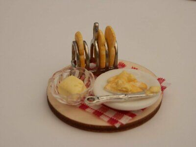 £7.50 • Buy Dolls House Food: Toast Rack Of Toast And A Plate Of Buttered Toast Set -By Fran
