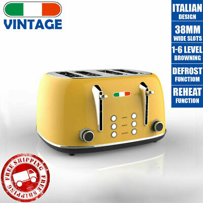 AU74.99 • Buy New Vintage Electric 4 Slice Toaster Yellow Stainless Steel 1650W - Not Delonghi