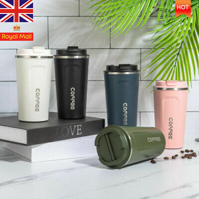 £8.39 • Buy Coffee Mug Insulated Cups Travel Thermal Stainless Steel Flask Leakproof Vacuum