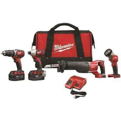 £266.73 • Buy Milwaukee  2696-24 M18™ Cordless LITHIUM-ION 4-Tool Combo Kit NEW In The Retail