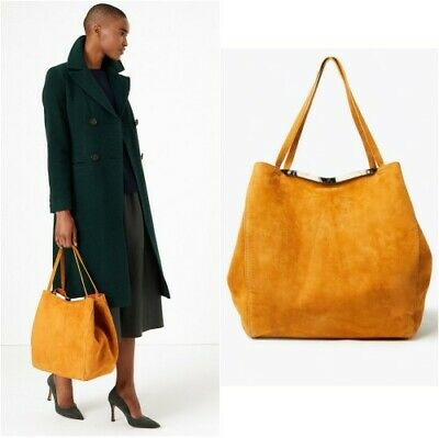 £28.99 • Buy P BNWT RRP £99 M&S Marks & Spencer  AUTOGRAPH Tan  Suede Tote Bag Luxury (AT)