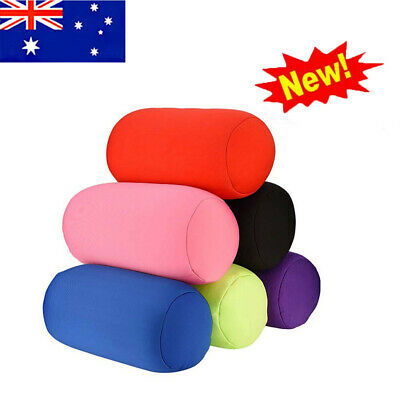 AU17.99 • Buy Roll Pillow Home Seat Head Rest Neck Support Travel Mini Microbead Cushion AU