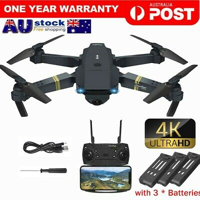 AU64.84 • Buy 2.4G 4K GPS Drone With HD Camera Drones WiFi FPV Foldable RC Quadcopter+3Battery