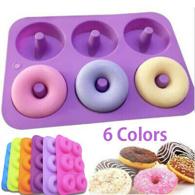 AU13.50 • Buy 6-Cavity Silicone Donut Moulds Non-Stick Baking Tray Heat Resistance Mold