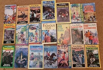 £40 • Buy Full / Complete Set Of 21 Books Of The Famous Five, By Enid Blyton,1970's/1980's