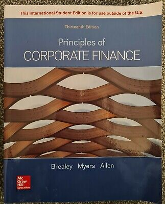 £40 • Buy Principles Of Corporate Finance 13th Ed (Brealey, Myers And Allen)