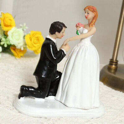 £15.94 • Buy 1pc Unique Creative Cake Topper Wedding Couple Resin Figure For Figurine Gift