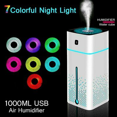 AU24.89 • Buy 1000ML Humidifier Electric Air Diffuser Aroma Oil Night Light Up Home Defuser EV