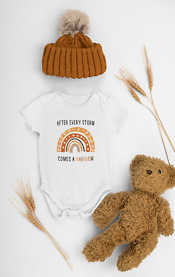 £7.99 • Buy After Every Storm Comes A Rainbow Baby Vest/grow, Cute Rainbow Baby Shower Gift