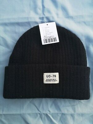 £8 • Buy (#79) Urban Outfitters UO-76 Black Ribbed Beanie Hat RRP £15