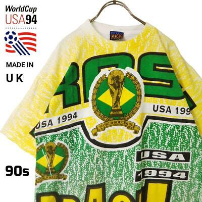 £145.48 • Buy Vintage FIFA World Cup Soccer USA 1994 Brazil Tee T Shirt Size Adult Made In UK