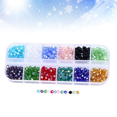 £9.11 • Buy 720-Pieces Glass Octagon Beads 4mm 12 Color Crystal Faceted Beads For