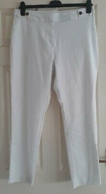 £7.99 • Buy BNWT F&F White Slim Cropped Trousers - Size 14