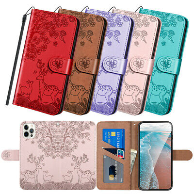 AU16.89 • Buy Leather Case For IPhone 6 6s 7 8 Plus X XR XS Max 11 12 13 Mini Pro Back Cover