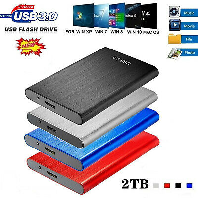 AU52.25 • Buy USB 3.1 1/2/4/8TB Portable External Hard Disk Solid State Drive For PC Laptop