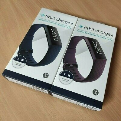 AU168 • Buy Fitbit Charge 4 Advanced Fitness Tracker + Gps Blue/rosewood New