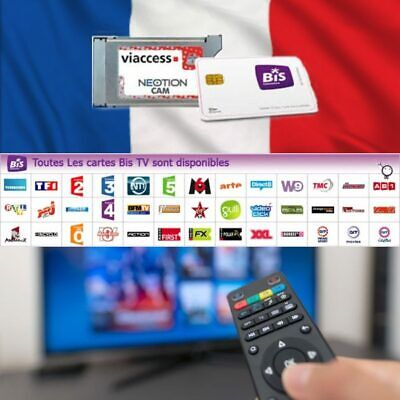 £215.95 • Buy BIS TV Panorama 12 Months Viewing Card With Viaccess CAM Bundle For French TV!!