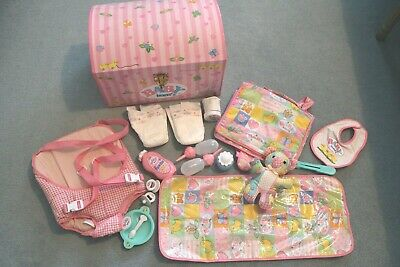 £30 • Buy  Zapf Baby Born Storage Chest With Numerous Clothing Nappies Bottles 90s Annabel