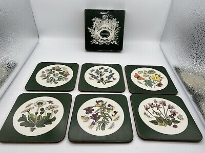 £10.89 • Buy Set Of 6 Portmeirion Floral Butterfly Drink Coasters Susan Williams Ellis Box