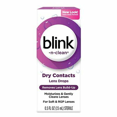 £21.89 • Buy Complete Blink-N-Clean Lens Drops For Soft Contact Lenses 15 Ml Pack Of 2