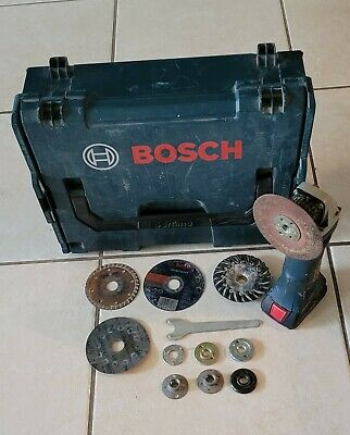 £73.15 • Buy BOSCH 4.5-in Sliding Switch Cordless Angle Grinder With Case And One Battery .