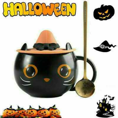 £17.99 • Buy 2021 Starbucks Black Cat Cup With Witch Cap Lid&Spoon Coffee Mug Halloween Gifts