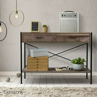 AU49.99 • Buy Artiss Wooden Hallway Console Table Entry Side Display Desk Industrial Wood