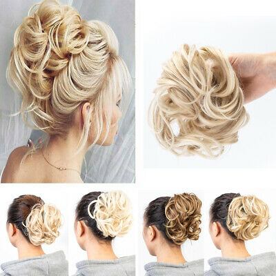 £6.99 • Buy Large Curly Messy Bun Scrunchie Hair Piece Thick Hair Updo Cover Extension UK