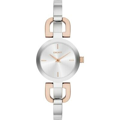 £10.50 • Buy DKNY NY2137 Ladies Silver Coloured Stainless Steel Reade Sunray Watch New In Box