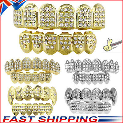 £6.49 • Buy Iced Gold Grill Tooth Clip Full Mouth Plated Teeth Cap Grills Bling Hip Hop UK
