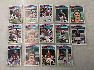 £12 • Buy Vintage TOPPS CHEWING GUM FOOTBALL CARDS ASTON VILLA 1978-1979