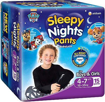 AU79.92 • Buy Babylove Sleepynight Pants, Size 4-7Yrs (18-35Kg), 60 Nappies (4X 15Pack)