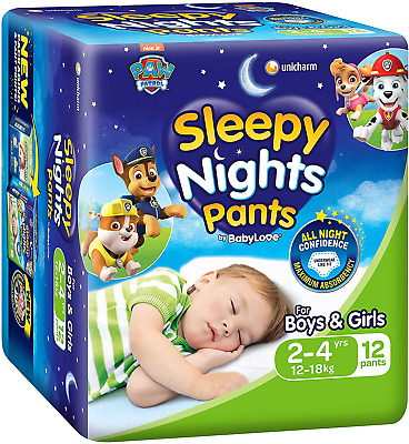 AU40.45 • Buy Babylove Sleepynight Pants, Size 2-4Yrs (12-18Kg), 36 Nappies (3X 12 Pack)