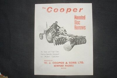 £2.49 • Buy Classic Vintage Cooper  Agricultural Equipment Leaflet Disc Harrow