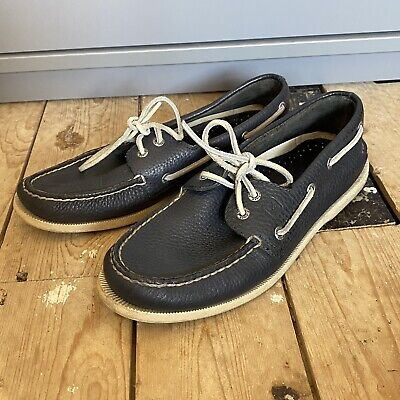 £25 • Buy Sperry Top Sider 8 Blue Leather Boat Deck Shoes UK 8 US 9