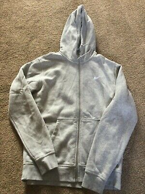 £7.50 • Buy Men's Grey Nike Hooded Zip Up Sweater Track Top Size Large