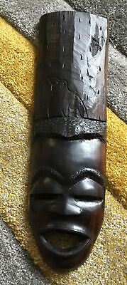 £2 • Buy African Wooden Hand Carved Wall Hanging Tribal Head