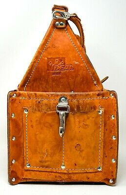 £72.30 • Buy Ideal #35-975 Tuff-Tote Electricians Leather Tool Pouch Carrier Bag Box W/Strap