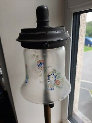 £80 • Buy Vintage Pyres  Tilley Table Lamp Glass Shade Flower Tl