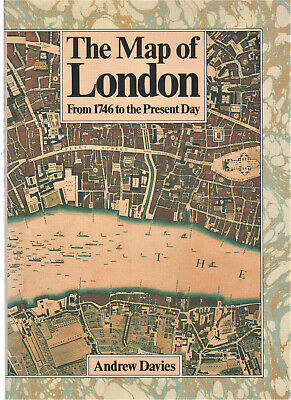 £4.50 • Buy Vintage -the Map Of London – 1746 To The Present Day – 1987