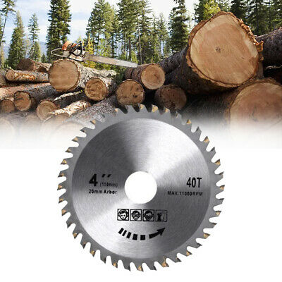 £4.59 • Buy 110mm Circular Saw Blade Disc Wood Cutting Fits For 4  40 Teeth Angle Grinder