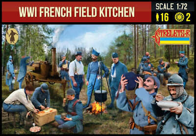 £7.50 • Buy STRELETS WWI French Field Kitchen X 2 And X16 FIGURES -1:72 SCALE - 292
