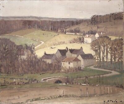 £17 • Buy Felix Raoul Eteve (1870-1939) Signed French Impressionist Oil - Chevreuse Valley