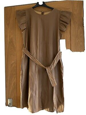 £6.09 • Buy Laies Faux Leather Tan Dress New Fit Size 8-10