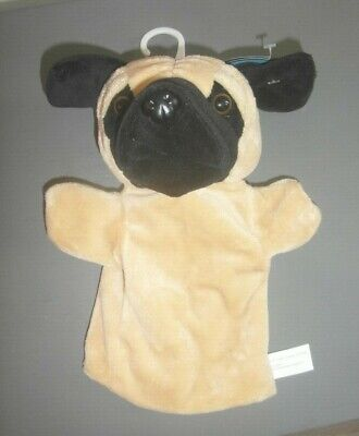 £3.99 • Buy New Cute Pug Dog Hand Puppet Childrens Soft Plush Toy Teddy 10  Creative Play
