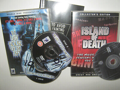 £4.99 • Buy Island Of Death / Last House On The Left - Pre Cert Horror Video Nasty Int. Dvds