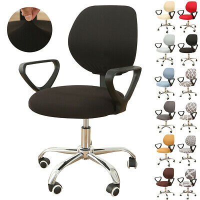 AU18.09 • Buy Universal Stretch Rotating Split Computer Office Chair Cover Task Seat Slipcover