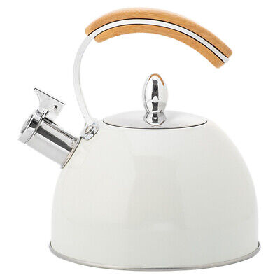 AU35.89 • Buy 2L White Whistling Tea Kettle Water Kettle Stainless Steel For Stovetops AU